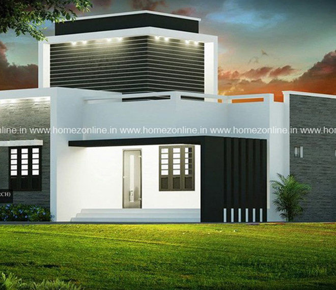 Simple modern house design in 1000 square feet