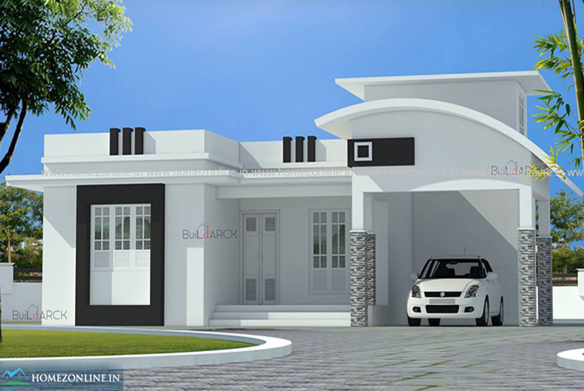 One story modern house with simple design