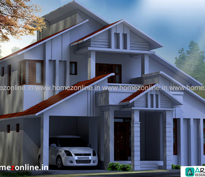 Stylish house design on double story