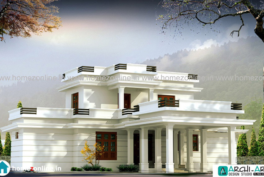 White exterior house in a excellent design