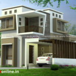 2 storey house design in a small house plan