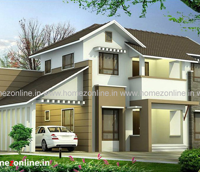 Latest roofing design with 4 bedroom