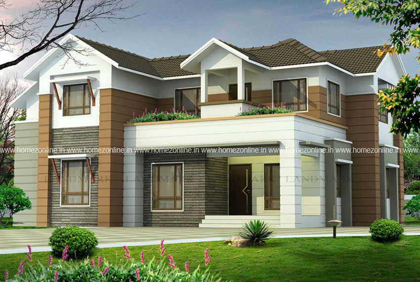 Modern duplex home design in 2500 square feet