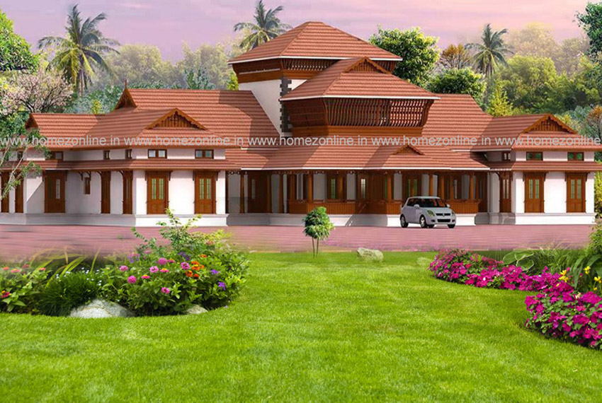 4500 Sq Ft Kerala Style Nalukettu House design