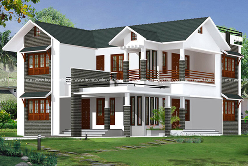 Colonial contemporary home design