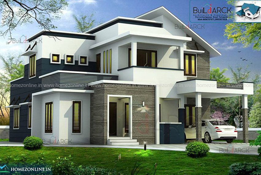 Contemporary Architecture With Modern Roof Design