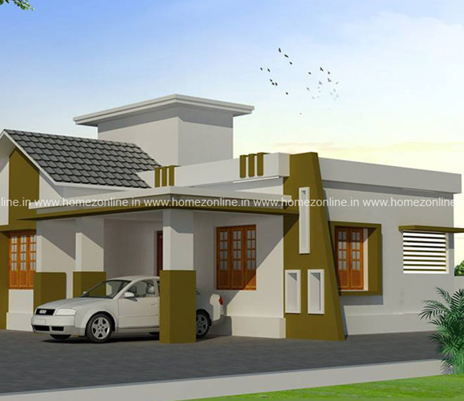 Low budget house plan below 1000 square fee