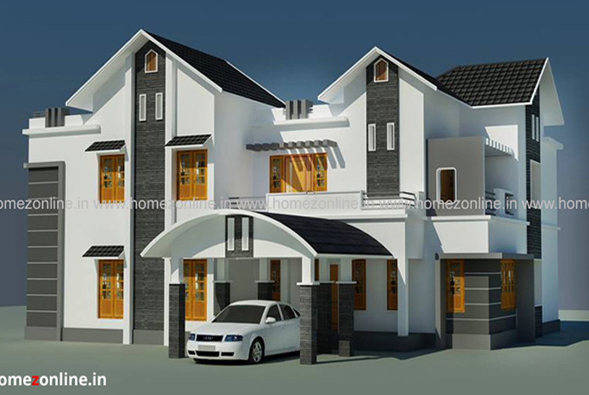 Modern luxury house plan in 3000 Sq Ft