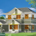 Traditional sloping roof home