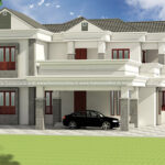 Traditional two storey house