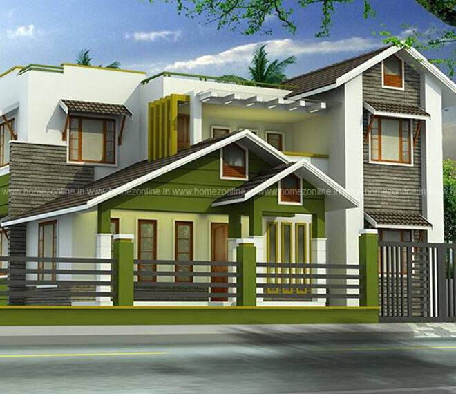 Trending mixed roof home