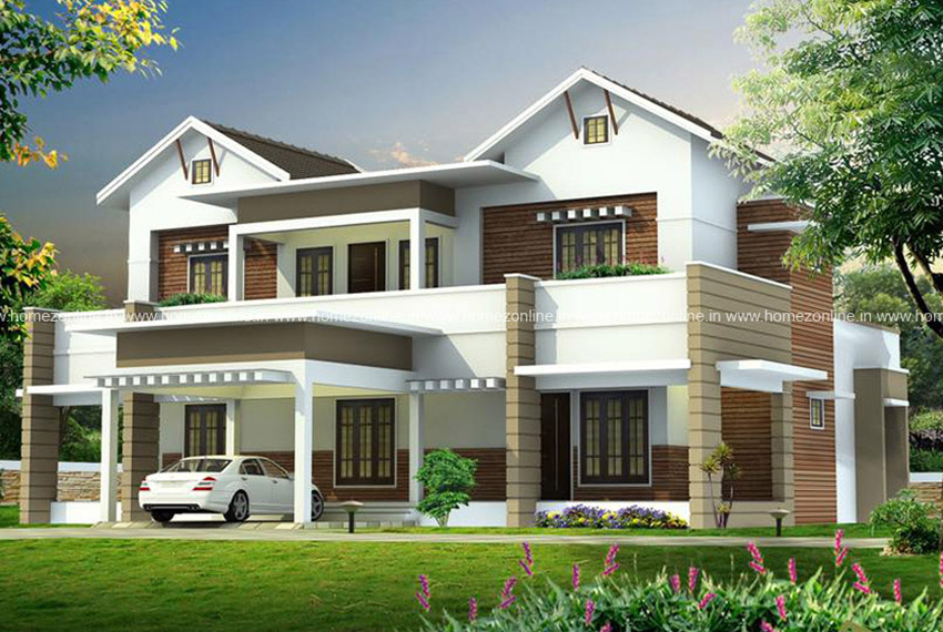 5 bed room modern home in 4000 sq ft