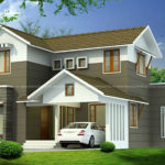 Latest model house design in 1800 Square Feet