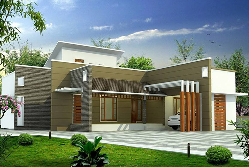 Modern single floor house design in 1200 sq ft