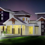 Double height living room house design