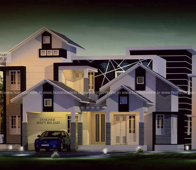 4 bedroom modern house in 2200 square feet