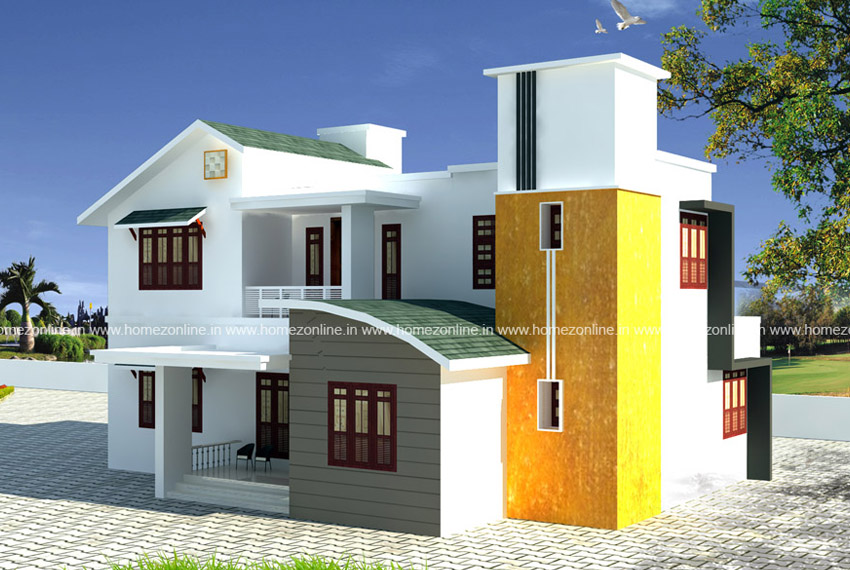 Amazing house design on mixed roof style