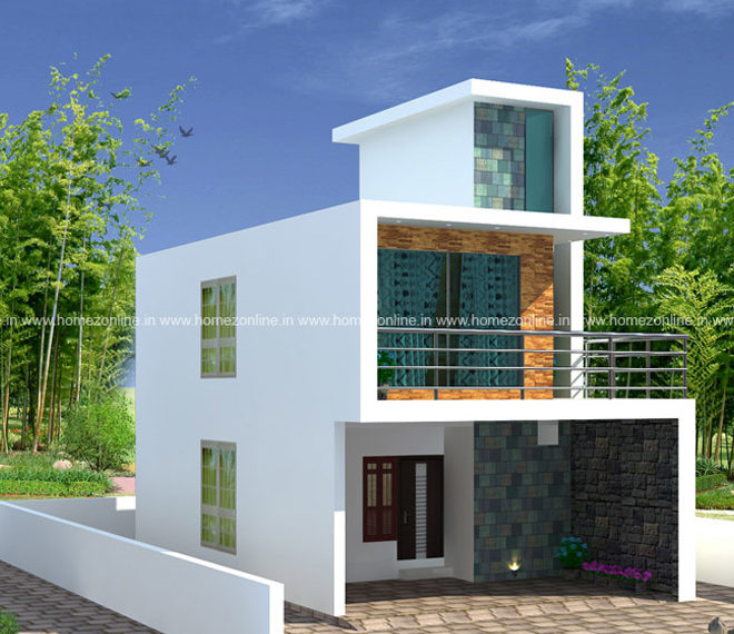 low cost house on box style design