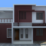 4 Bedroom home design on contemporary style