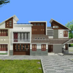 3120 square feet 4 bedroom mixed roof residence