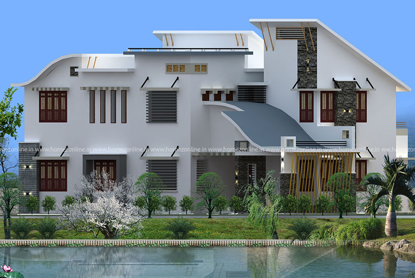 Modern contemporary home plan with 4 bedroom