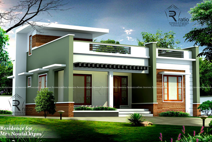 Contemporary single floor house with 3 bedroom