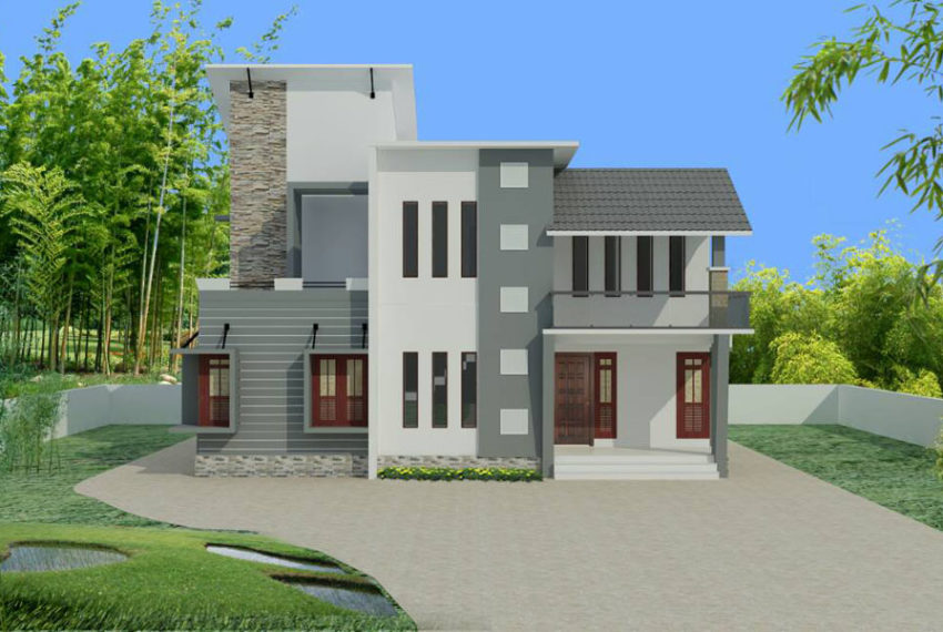 Mixed roof home design in 1800 square feet