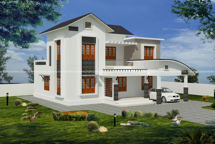 Budget house design in 2 storey with 4 bedroom