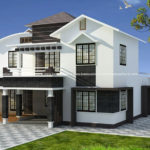 Latest model house design on mixed roof style