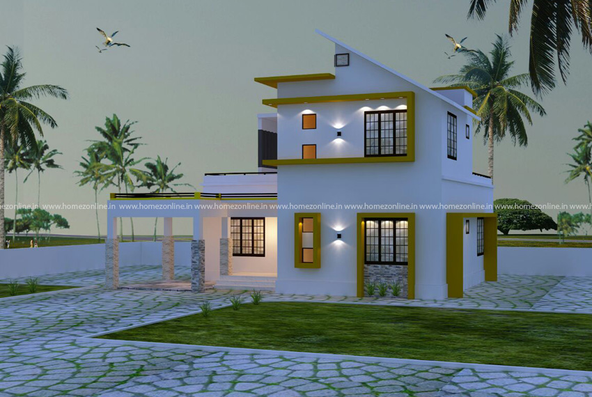 Low budget home design on double storey