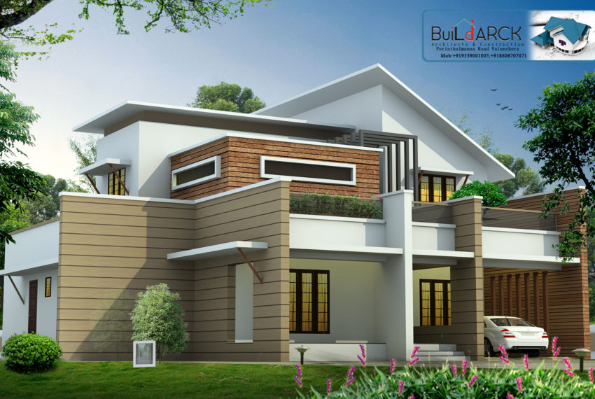 Modern contemporary house design in 2500 square feet