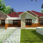 Modern single storey house with 3 BHK