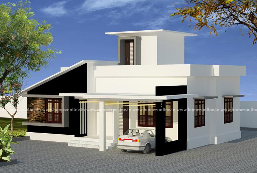 Small contemporary house design with 2 bedroom
