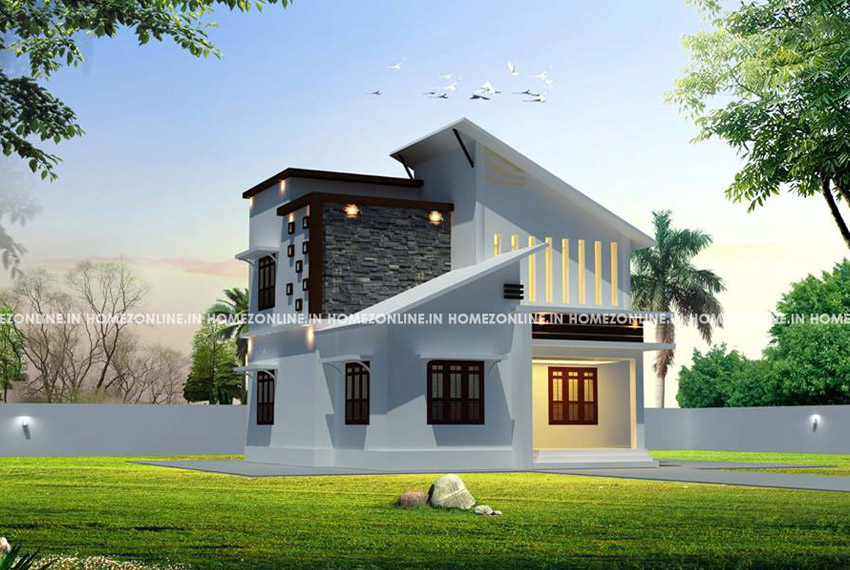 Two storey small house design with low cost