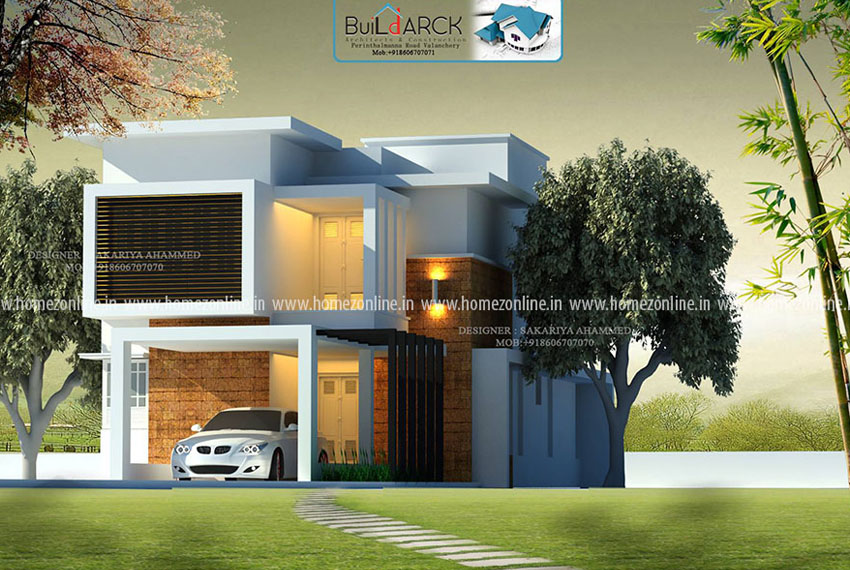 3 bhk house design on 1430 square feet