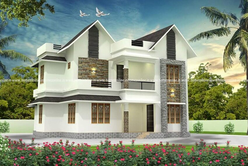 A beautiful duplex house design