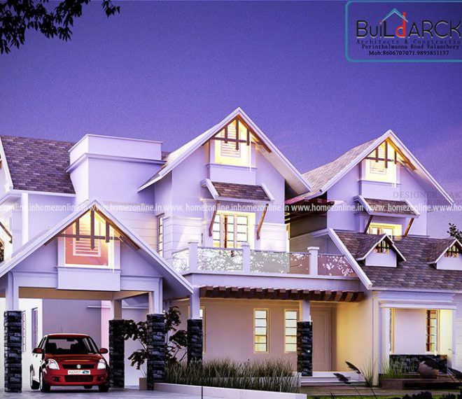 Pitched roof double storey contemporary house design