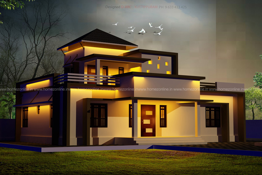 3 bedroom home with modern roof design