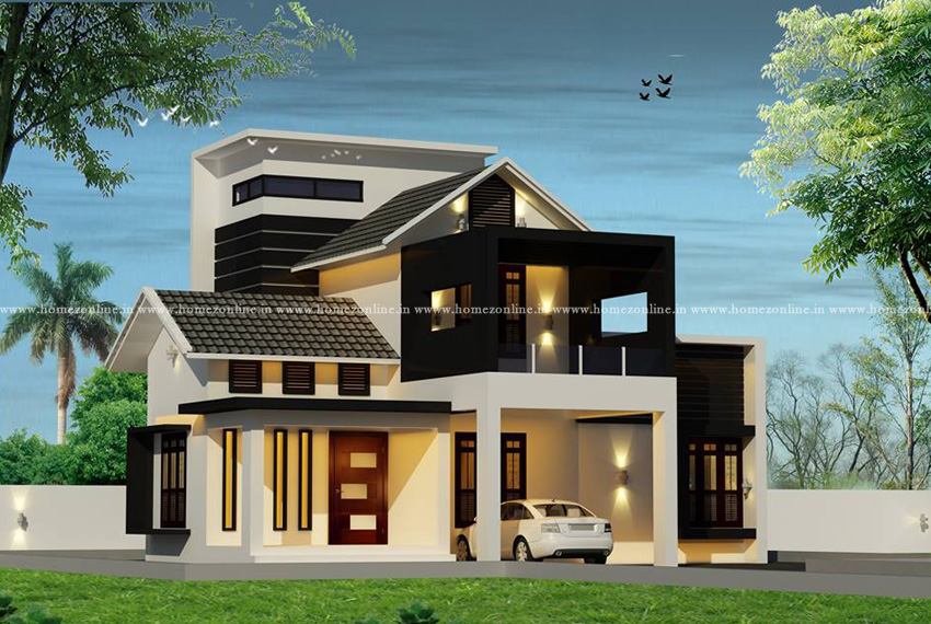 Beautiful home design on double sotrey