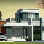 Simplex home design on flat roof design style