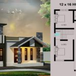 12 x 16 House plan with house design