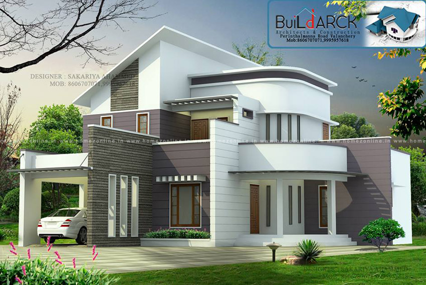 Beautiful house roof design with 3 bedroom