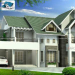 Pitched roof house in a beautiful exterior design