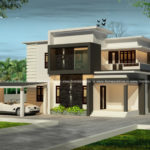 2 story house in a beautiful exterior design