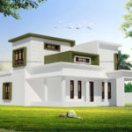 Double storey house plan with modern design