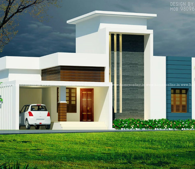 Front design of small home in 2 bedroom
