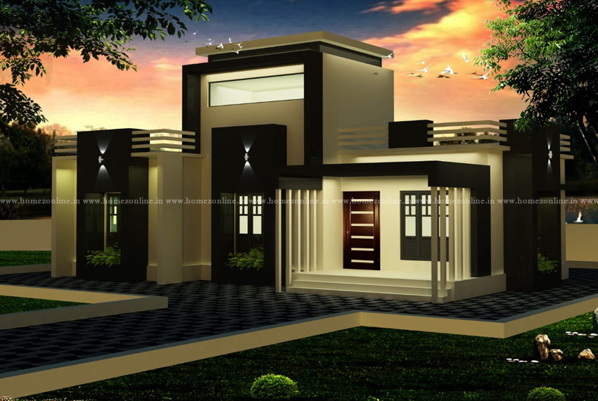 Modern contemporary style single storey home