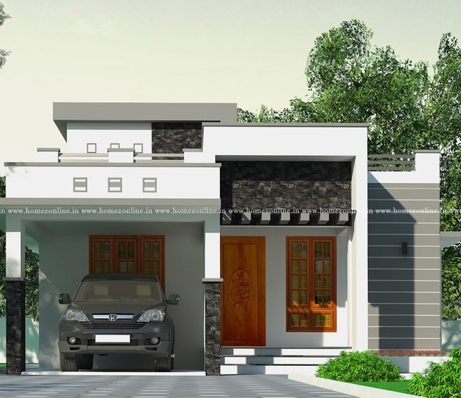 One storey house in simple design style
