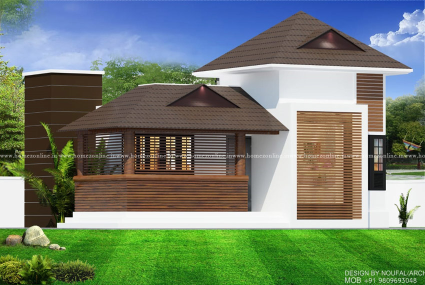 Simple 2 bedroom house on srtylish design