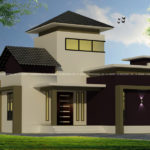 1 storey house design in 900 square feet